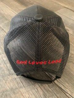 God Loves Lead Mesh Hat Back